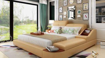 Kožená posteľ Piacenza