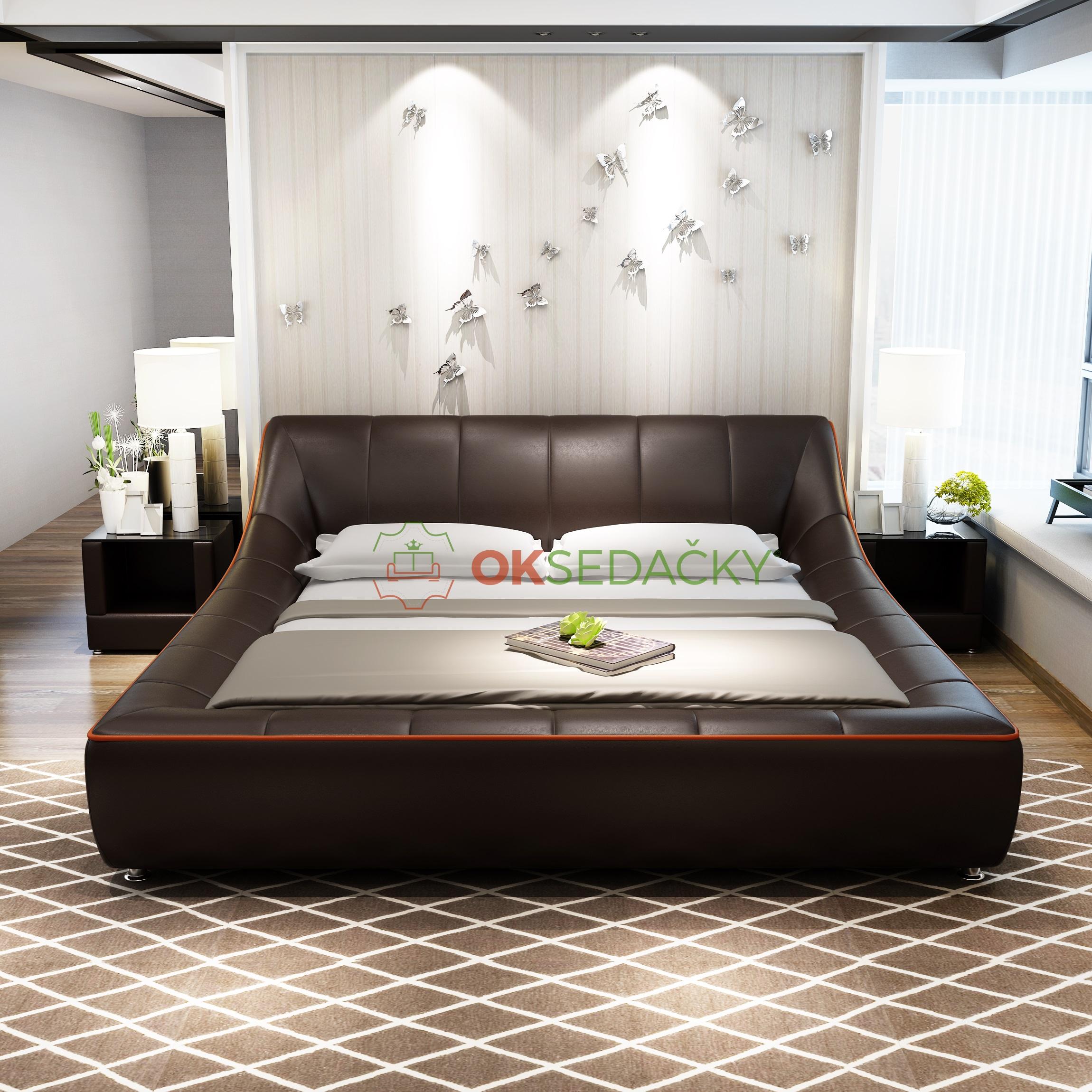Kožená posteľ Charlotte