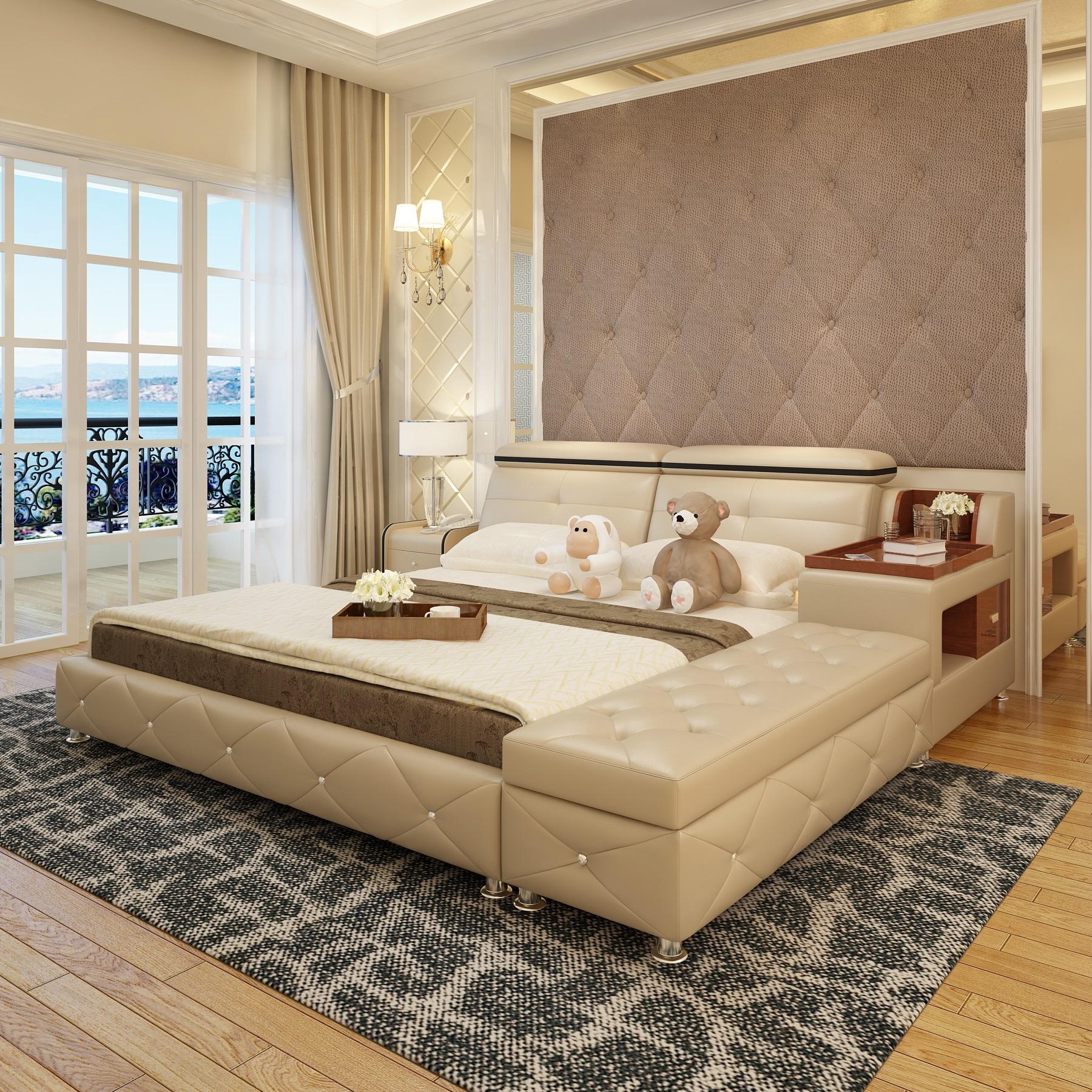 Kožená posteľ Forentina