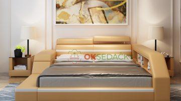 Kožená posteľ Lioni
