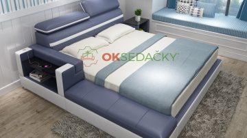 Kožená posteľ Mariette