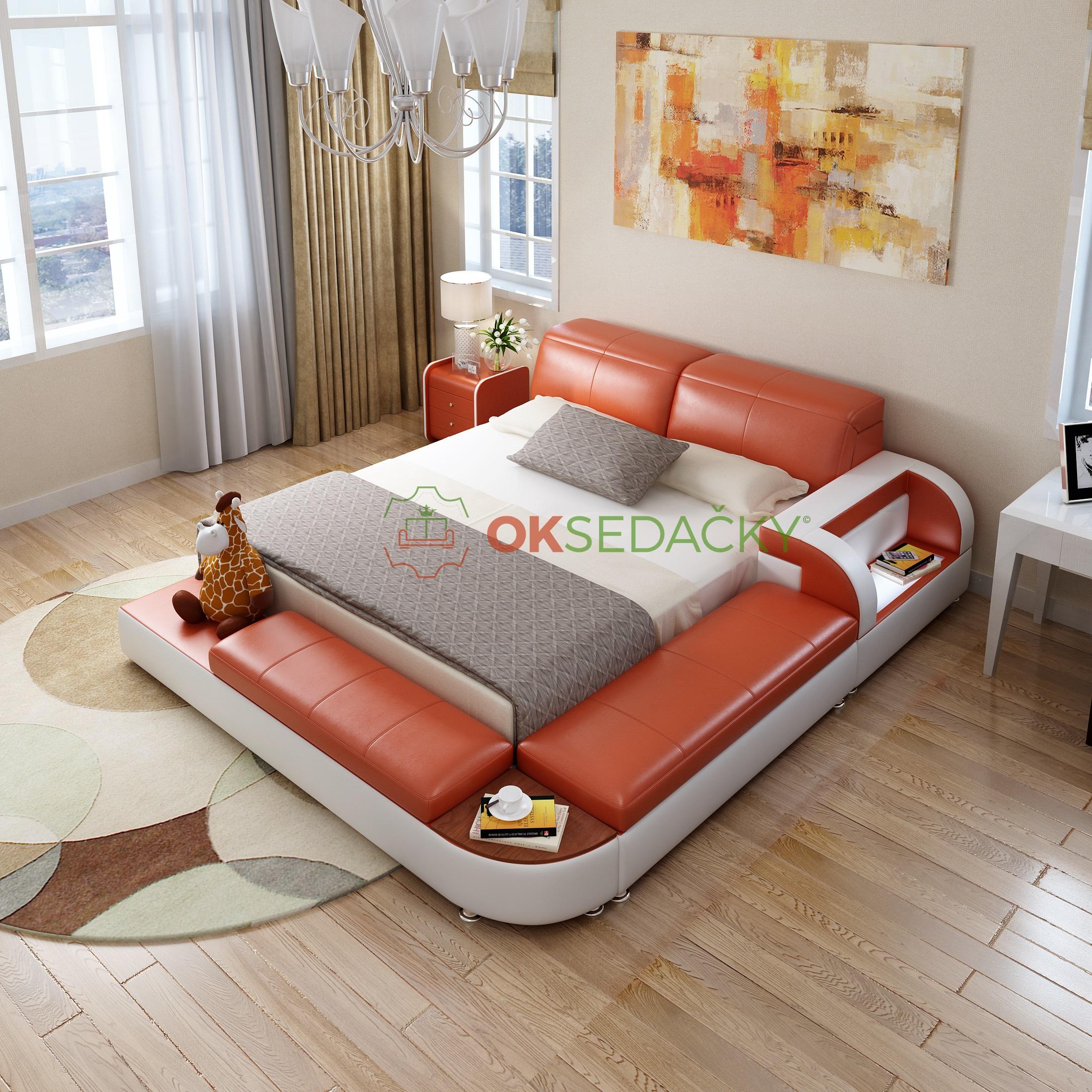 Kožená posteľ Verona